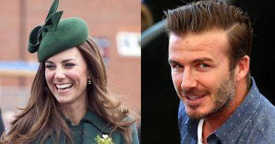 Kate Middleton und David Beckham haben das schönste Lächeln