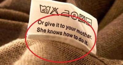 5 Kleidungs-Etiketten, die dich auf den Arm nehmen wollen