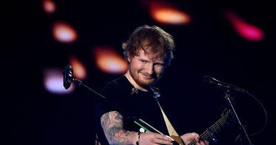 Manchmal brauchen auch Superstars berühmte Hilfe. Ed Sheeran hilft Musikerkollegen während Konzert.