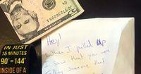 So sieht Nächstenliebe aus: Mann findet Geld und Zettel an seiner Windschutzscheibe