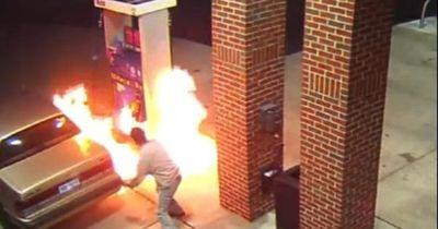 Mann zündet Tankstelle an – aus Angst vor Spinne