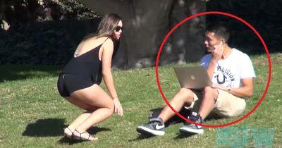 Video: Frau fragt im Park ob sie einen Blowjob geben darf!
