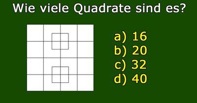 Wie viele Quadrate könnt ihr sehen?