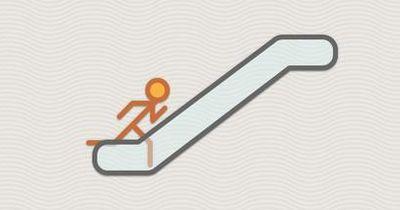 Rolltreppe rauf, Rolltreppe runter. Wie viele Stufen hat denn nun die Rolltreppe?