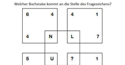 Welcher Buchstabe ersetzt das Fragezeichen?