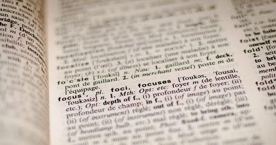 Welches Wort im Wörterbuch wird inkorrekt buchstabiert?