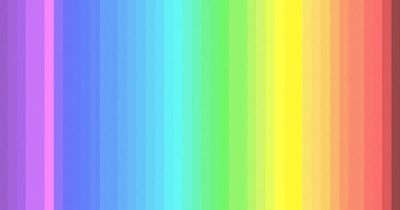 Nur 1/4 aller Menschen können alle Farben auf diesem Bild erkennen!