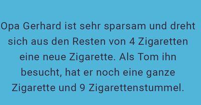 Wie viele Zigaretten hat Opa Gerhard noch?