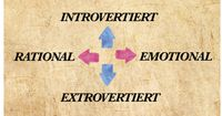 Bist du in- oder extrovertiert? Bist du rational oder emotional?