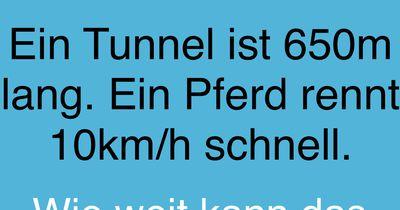 Der Tunnel!