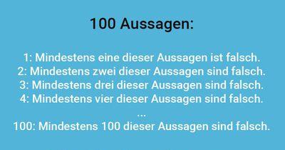 100 Aussagen
