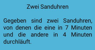 Zwei Sanduhren