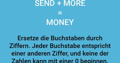 SEND MORE MONEY