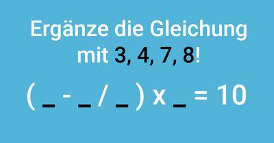 Ergänze die Gleichung!