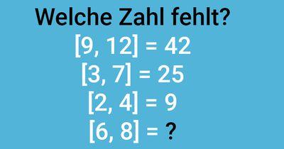 [ Welche Zahl fehlt? ]