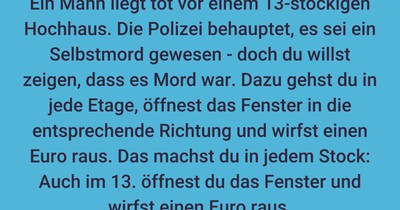 Selbstmord oder Mord?