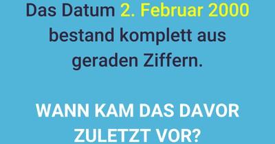 Eine gerade Datumsfrage