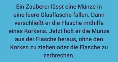Flaschenmagie